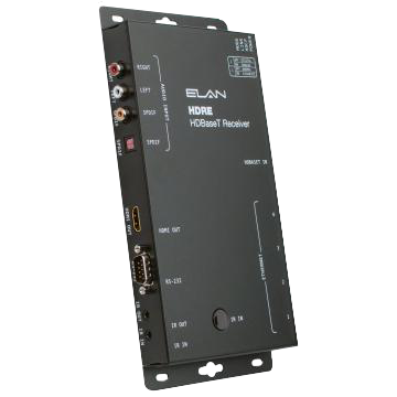 HDBaseT Receiver with 10/100 Ethernet Switch and ARP